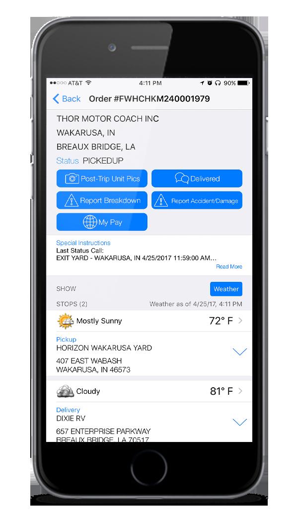 horizon transport app